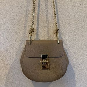 Griege crossbody saddlebag purse gold strap drew